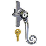 Multipoint handle Key-locking monkey tail